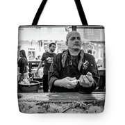 Shucking Oysters 2 - French Quarter- Bw Tote Bag
