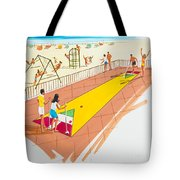 Retro Shuffleboard Art From The 1960's Tote Bag