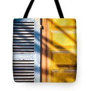 Shutter And Ornate Wall Tote Bag