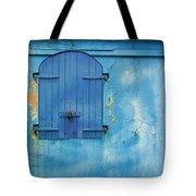 Shuttered Blue Tote Bag