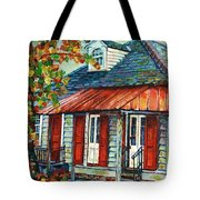 Shuttered Red  Tote Bag
