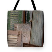 Shutters And Column  Tote Bag
