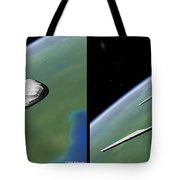 Shuttle X-2010 - Gently Cross Your Eyes And Focus On The Middle Image Tote Bag