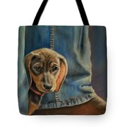 Shy Boy Tote Bag