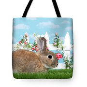 Shy Brown Dwarf Bunny Portrait Tote Bag