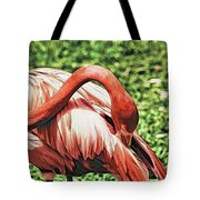 Shy Flamingo Tote Bag