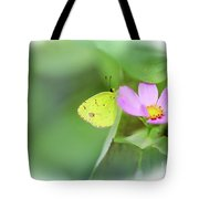 Shy Little Yellow Butterfly Tote Bag