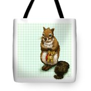 Shy Squirrel Tote Bag