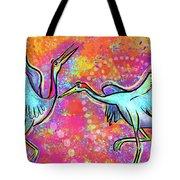 Siberian Cranes Tote Bag