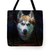Siberian Husky Tote Bag by Brian Roscorla