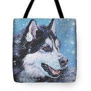 Siberian Husky Tote Bag