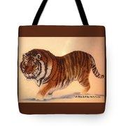 Siberian Snow Tiger Tote Bag