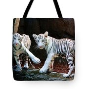 Siberian Tiger Cubs Tote Bag