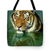 Siberian Tiger Reflection Wildlife Rescue Tote Bag