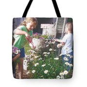 Siblings In Spring Tote Bag
