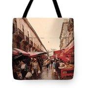 Sicilian Market After The Rain Tote Bag