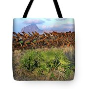 Sicilian Port With Old Anchors Tote Bag