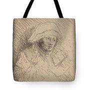 Sick Woman With A Large White Headdress (saskia) Tote Bag