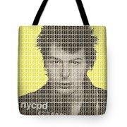 Sid Vicious Mug Shot - Yellow Tote Bag