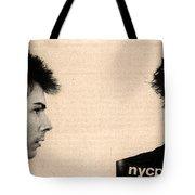 Sid Vicious Mugshot Tote Bag by Bill Cannon