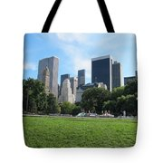 Side By Side Skyscrapers Tote Bag