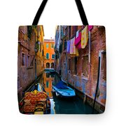 Side Canal  Venice Tote Bag