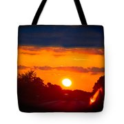 Side Mirror Sunset Tote Bag