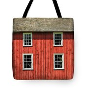 Side Of Barn And Windows At Old World Wisconsin Tote Bag