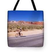 Side Profile Of A Person Cycling Tote Bag