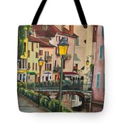 Side Streets In Annecy Tote Bag