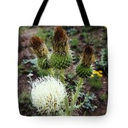 Side Thistle  Tote Bag