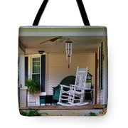 Side View Of Porch Tote Bag