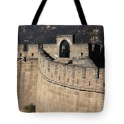 Side View Of The Great Wall Tote Bag