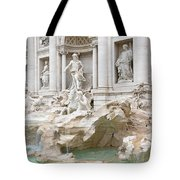 Side View Of The Trevi Fountain In Rome Tote Bag