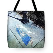 Sidewalk Angel Tote Bag