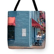 Sidewalk Cafe Annapolis Tote Bag