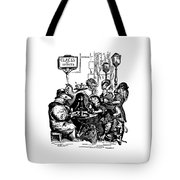 Sidewalk Cafe Grandville Transparent Background Tote Bag