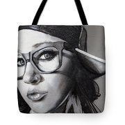 Sideways Hat Tote Bag