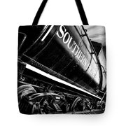 Sideways Train Tote Bag