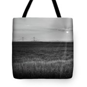 Sidney Lanier At Sunset In Black And White Tote Bag