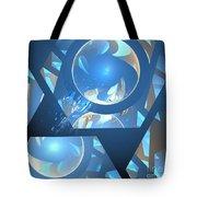 Sienna Blue Honeycomb Tote Bag