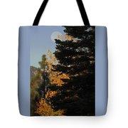 Sierra Autumn Moonset Tote Bag