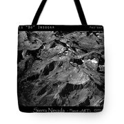 Sierra Nevada's Planer Earth Bw Tote Bag