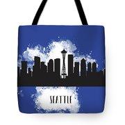 Seattle Skyline Silhouette Tote Bag