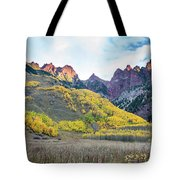 Sievers Peak And Golden Aspens Tote Bag