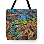 Sighisoara From Above Tote Bag