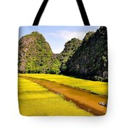 sighseeing on Ngo Dong river Tote Bag