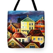 Sight From Above - Palette Knife Oil Painting On Canvas By Leonid Afremov Tote Bag