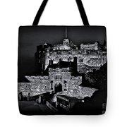 Sights In Scotland - Castle Bagpiper Tote Bag