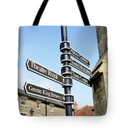 Sign Posts In Bury St Edmunds Tote Bag